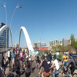 A XII a ediție a Marșului Bicicliștilor din București organizat de O.P.T.A.R.